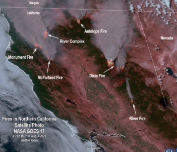 Smoke from wildfires in California